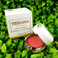Маска для губ c розовым маслом Treechada Lip Mask Rose oil repair