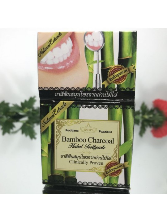 Rochjana Зубная паста с углем бамбука Bamboo Charcoal Herbal Toothpaste