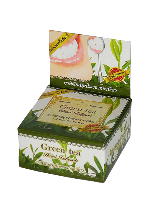 Rochjana Зубная паста с экстрактом зеленого чая Green tea Herbal Toothpaste