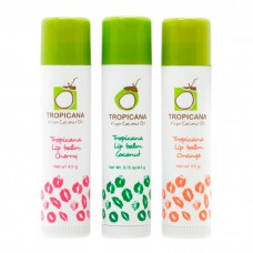 Бальзам для губ с маслом кокоса Tropicana virgin coconut oil lip balm